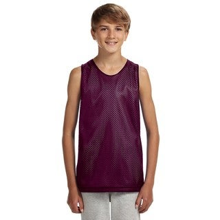 Boys' Maroon/White Reversible Mesh Tank