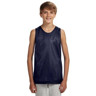 Reversible Boys' Navy/White Mesh Tank
