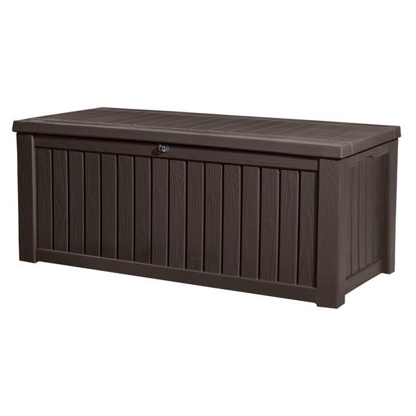 Keter Rockwood 150 Gallon Brown Plastic Outdoor Deck