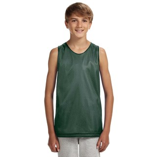 Boys' Hunter/White Reversible Mesh Tank
