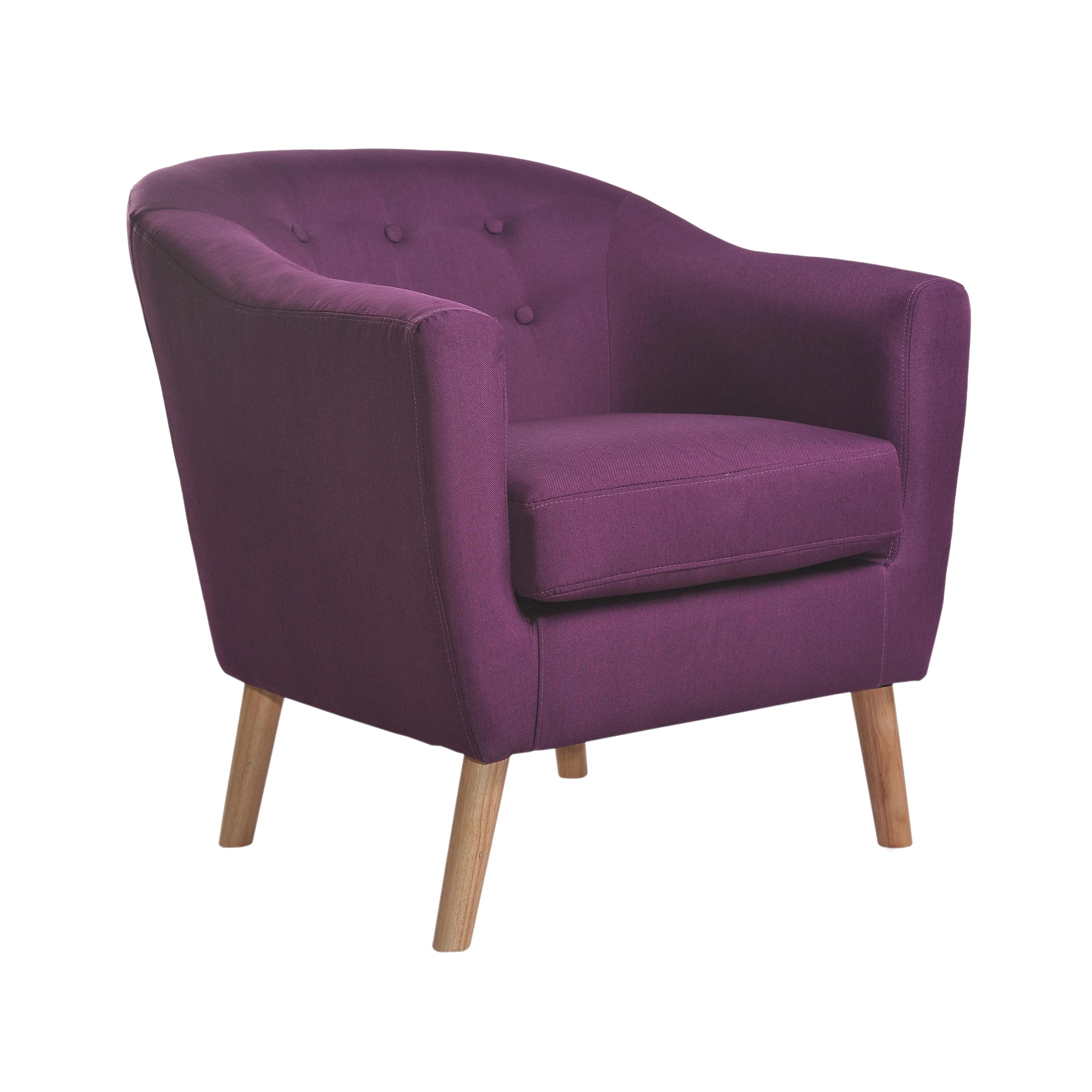 Nathaniel Home Jason Mid Century Purple Club Chair