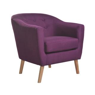 Beau Nathaniel Home Jason Mid Century Purple Club Chair