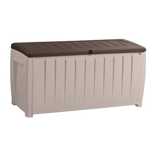 Keter Novel 90-gallon Brown Plastic Deck Storage Box