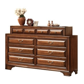 Konane Brown Cherry 10-drawer Dresser