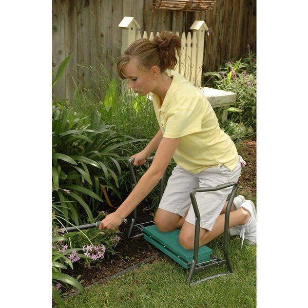 Portable Folding Garden Kneeler Kneeling Bench Stool Soft Cushion Seat EVA Pad