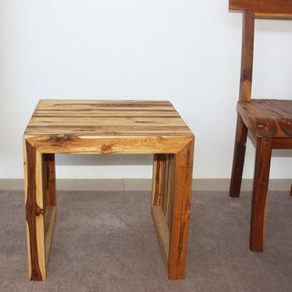 India 19 x 19 x 18 Tung Oil Finish Teak C Table (Set of 2)
