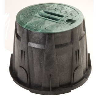 Rain Bird VBRND10 10-inch Green Round Valve Box With Lid