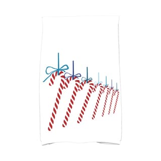 16 x 25-inch Candy Canes Holiday Geometric Print Kitchen Towel