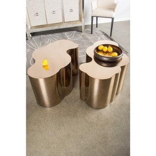 Statements By J Kate Chrome Coffee Table, 16 Inch Tall