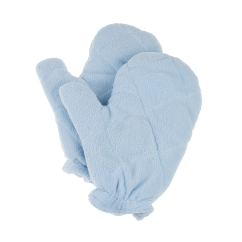 Heat Therapy Gloves - Microwaveable Mittens with Natural Crab Apple Seed Filling Bluestone (One Pair)