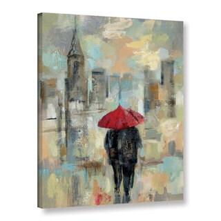 Silvia Vassileva's 'Rain in the City I' Gallery Wrapped Canvas