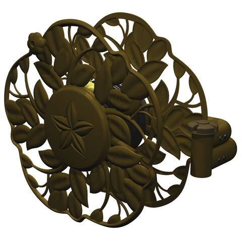 Ames 2397200 Antique Bronze Decorative Swivel Wall Mount Hose Reel