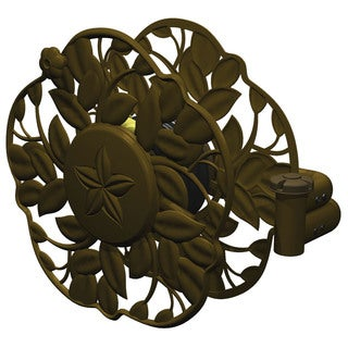 Ames 2397200 Antique Bronze Decorative Swivel Wall Mount Hose Reel