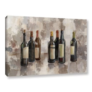 Silvia Vassileva's 'Vino Marsala no Words Gray' Gallery Wrapped Canvas