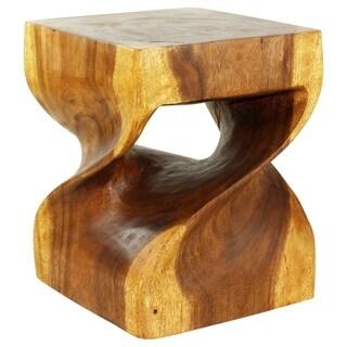 Handmade Big Twist DUO 16 in SQ x 20 Walnut Oil Seat (Thailand)
