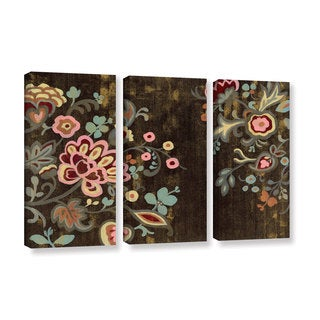 Silvia Vassileva's 'Decorative Paisley' 3 Piece Gallery Wrapped Canvas Set