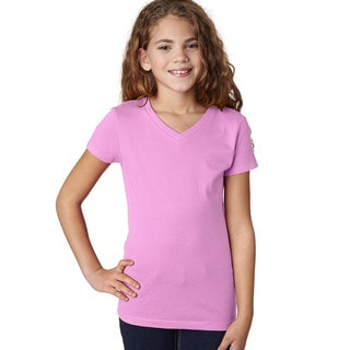 Next Level Girls' The Adorable V-neck T-Shirt Lilac