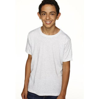 Next Level Boys' Heather White Tri-blend Crewneck T-shirt