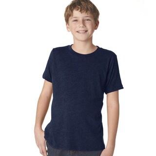 Next Level Boys' Vintage Navy Tri-blend Crew T-shirt