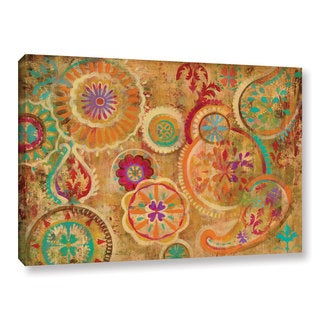 Silvia Vassileva's 'Contemporary Paisley' Gallery Wrapped Canvas