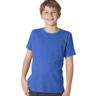 Next Level Boys' Vintage Royal Tri-blend Crew Shirt
