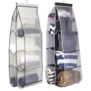 Sunbeam 10-pocket Handbag, Sweater, or Clothing Hanging Organizer