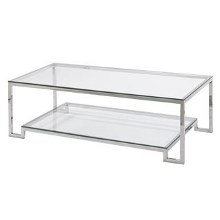 Large Demster Metal and Glass Rectangle Coffee Table