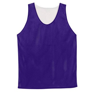 Boys' Reversible Purple/White Mesh Tank