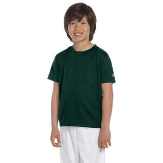 Ndurance Boys' Forest Green Cotton Athletic T-shirt