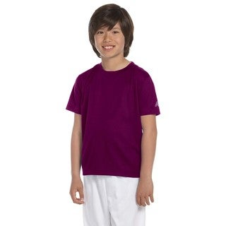 Ndurance Boys' Maroon Athletic T-shirt