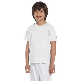 Ndurance Boys' White Cotton Athletic T-shirt