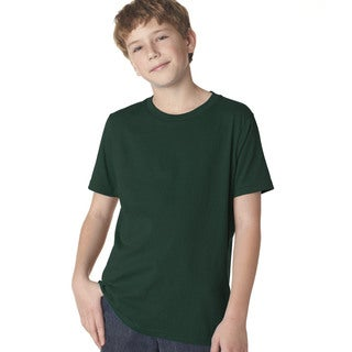 Next Level Boys' Forest Green Premium Short-sleeve Crew T-shirt