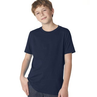 Next Level Boys' Midnight Navy Cotton Premium Short-sleeve Crewneck T-Shirt