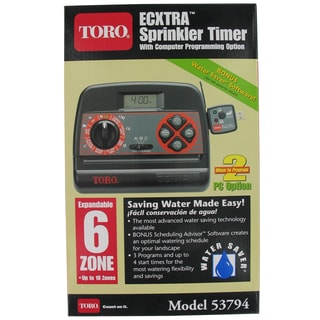 Toro 53794 6 Zone Indoor Sprinkler Timer