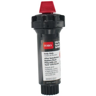Toro 53820 3-inch 570Z Pro Series Pop-Up Body Only Sprinkler W/Flush Plug