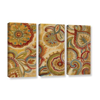 Silvia Vassileva's 'Mandala and Paisley' 3 Piece Gallery Wrapped Canvas Set