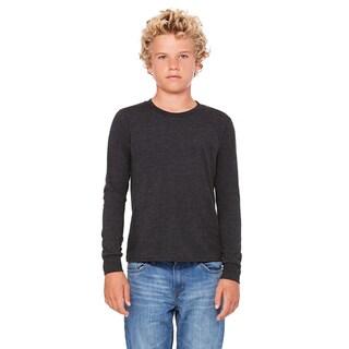 Triblend Boys' Char-Black Long-sleeve Jersey T-Shirt