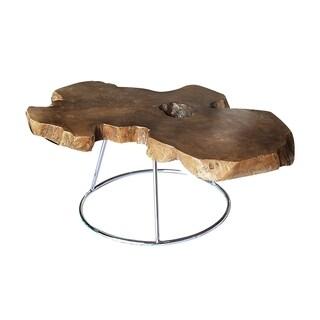 Neri Coffee Table, Medium Stainless Steel