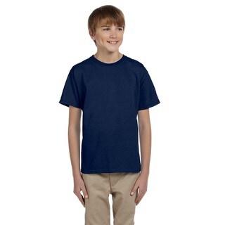 Hidensi-T Boys' Navy Cotton T-shirt
