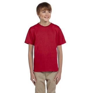Hidensi-T Boys' Red Cotton T-Shirt