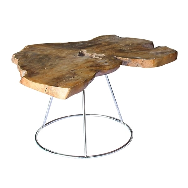 Neri Tall Coffee Table Stainless Steel Free Shipping Today