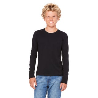Boys' Black Jersey Long-sleeve T-shirt