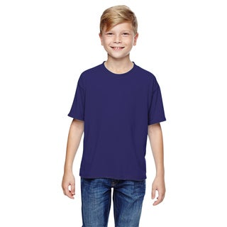 Jerzees Boys' Deep Purple Cotton Sport T-shirt