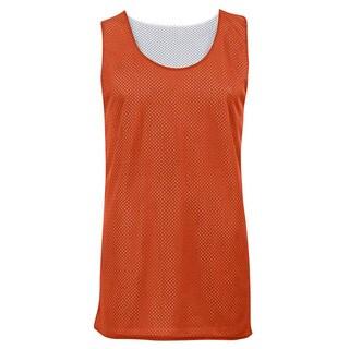 Boys' Reversible Burnt Orange/White Mesh Tank Top