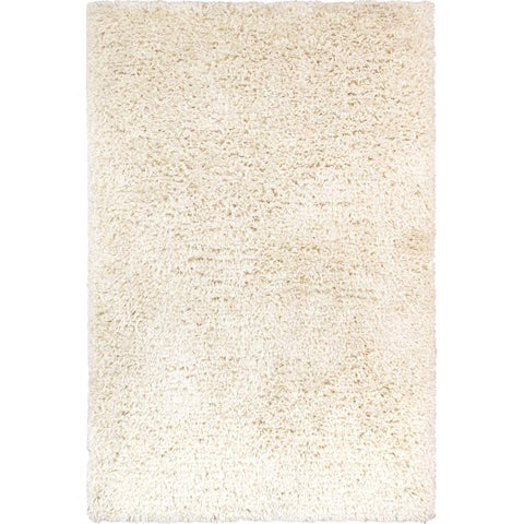 Paris Shag Collections Hand-woven Ivory Polyandcotton Shaggy Rug (5' x 8') - 5' x 8'