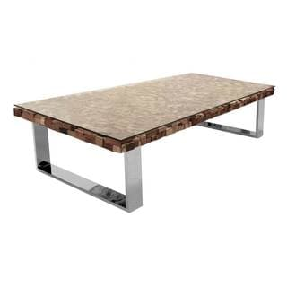 Manchester Coffee Table, Stainless Steel