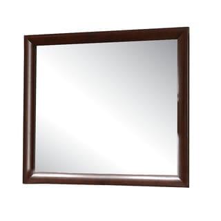 Ireland Espresso Wood Frame Mirror