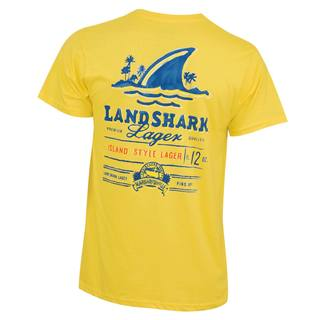 Men's Landshark Yellow Painted T-shirt