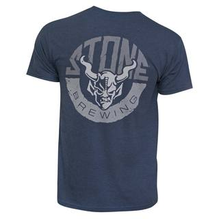Stone Brewing Co. Horns Blue Cotton-blended T-shirt