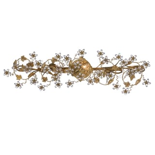 Crystorama Paris Market Collection 5-light Gold Leaf Bath/Vanity Light